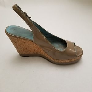 Boden Peep Toe Wedges, 8.5